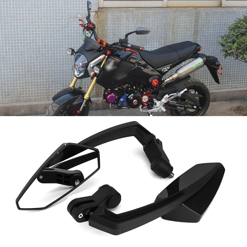 E MARKED PAIR MIRRORS BIKE MOTORCYCLE STREETFIGHTER LEFT RIGHT THREAD 8//10mm+YAM