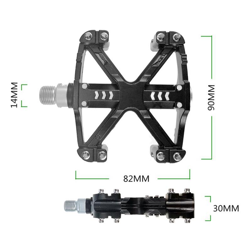 2pcs Light MTB Road Bike sealed Bearing Pedals Platform Bicycle Flat Pedal 332g