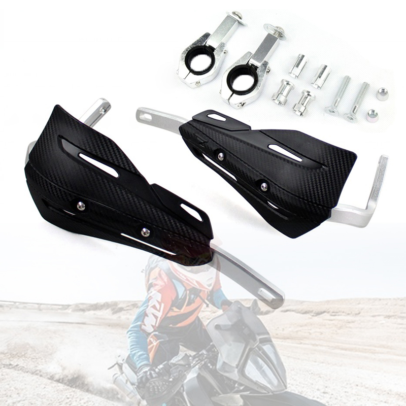 """7//8/"""" 1-1//8/"""" Universal Motorcycle Handlebar End Mounting Hand Guard Wind Protect"""