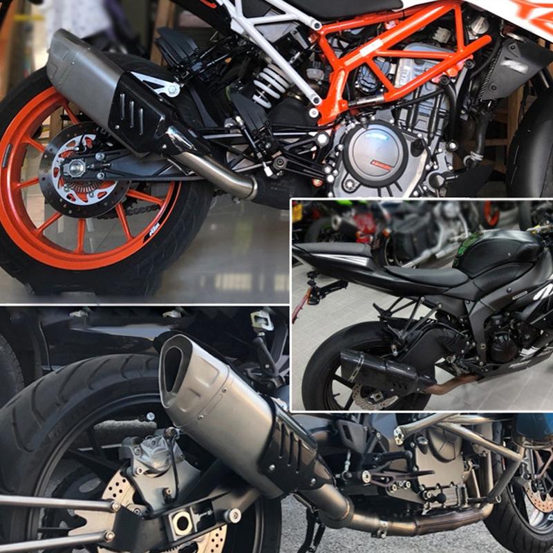 Gr/ün Motorrad Hitzeschutz Curve Auspuffrohrabdeckung Fersenschutz Motorcycle Exhaust Pipe Protective Cover Motorrad Hitzeschutzabdeckung