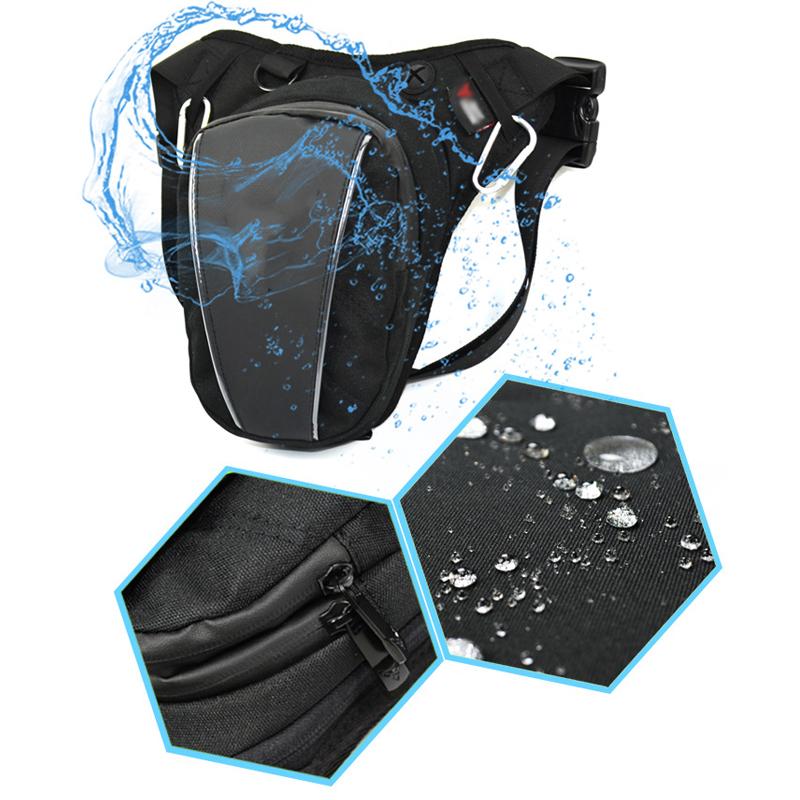 Waterproof Motorcycle Men Leg Bag Waist Pack Thigh Drop Bum Belt Hip Pouch Purse