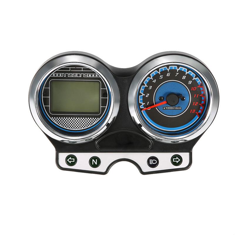BlueBacklight Universal LCD Digital Odometer Speedometer Tachometer Gauge Classy