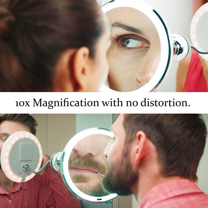 Multi Function Magnifying Mirror Table Portable 10xw