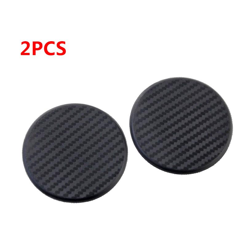 2pcs Silicone Round Car Dashboard Water Cup Slot Non-Slip Mat Pad Cushion black