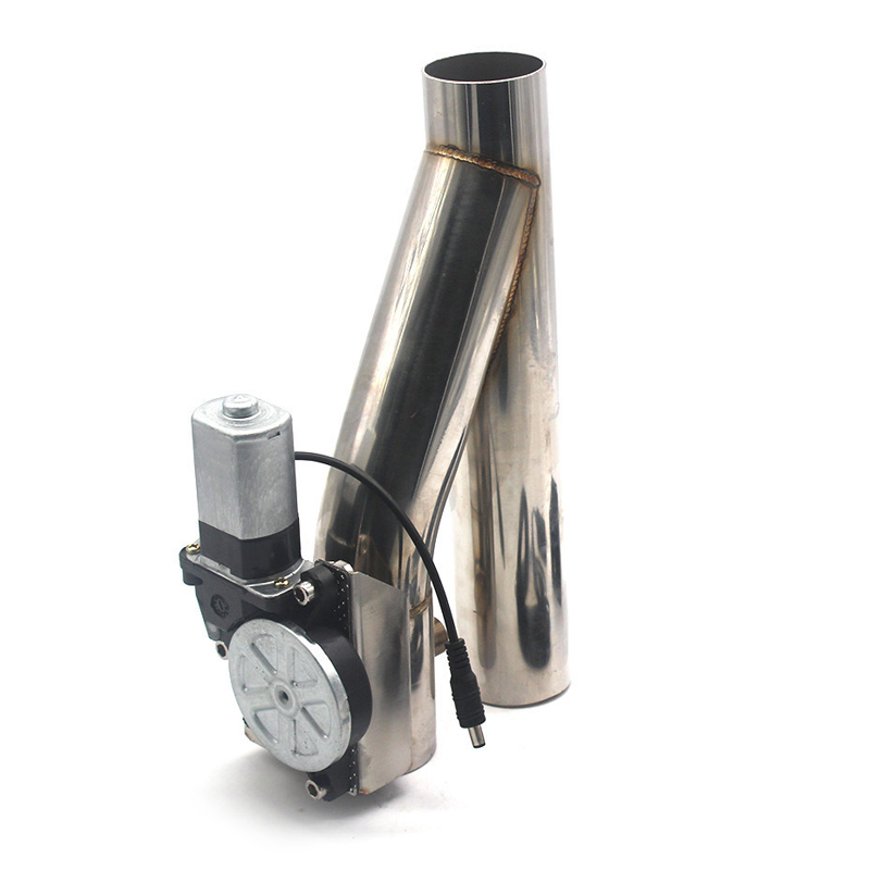 """2/"""" Motorized Electric Exhaust Cutoff Bypass Valve Cutout+Remote Stainless Steel"""