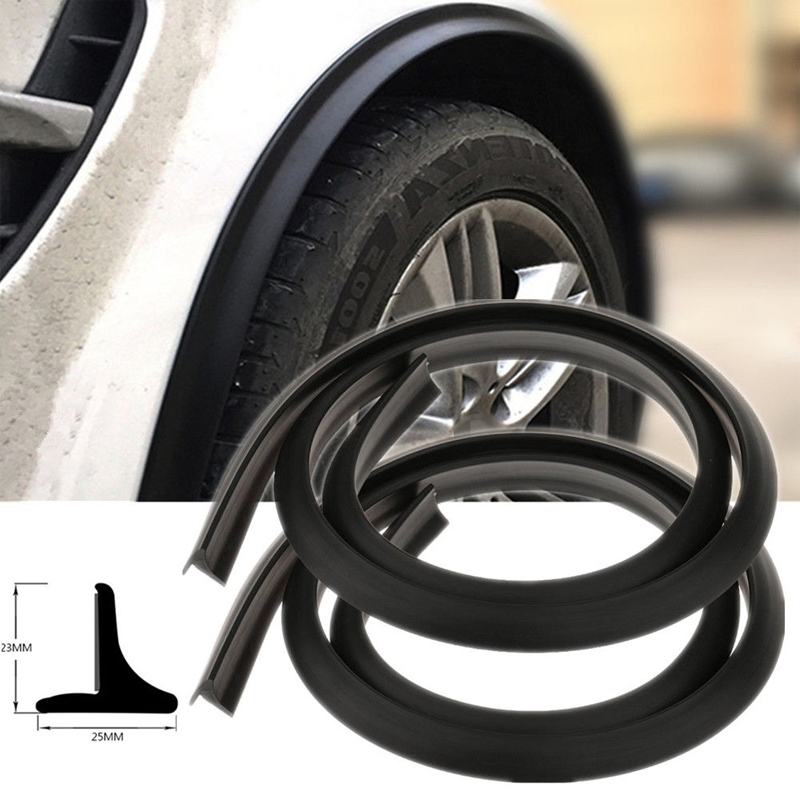 runmade Car Wheel Wells Fender Eyebrow Edge Trim Protector Rubber Strips Side Bumper Protection Guard Anti-Scratch Corner PAD White Fit Suvs Pickup Truck