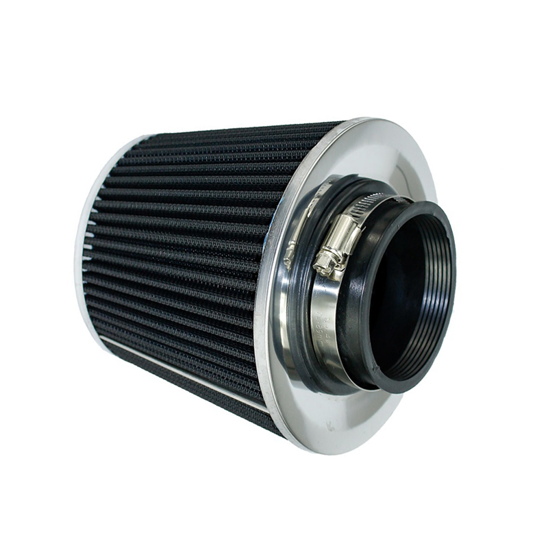 """BLACK 3.0/"""" Inches 76mm Inlet Cold Air Intake Cone Dry Universal Filter For Dodge"""