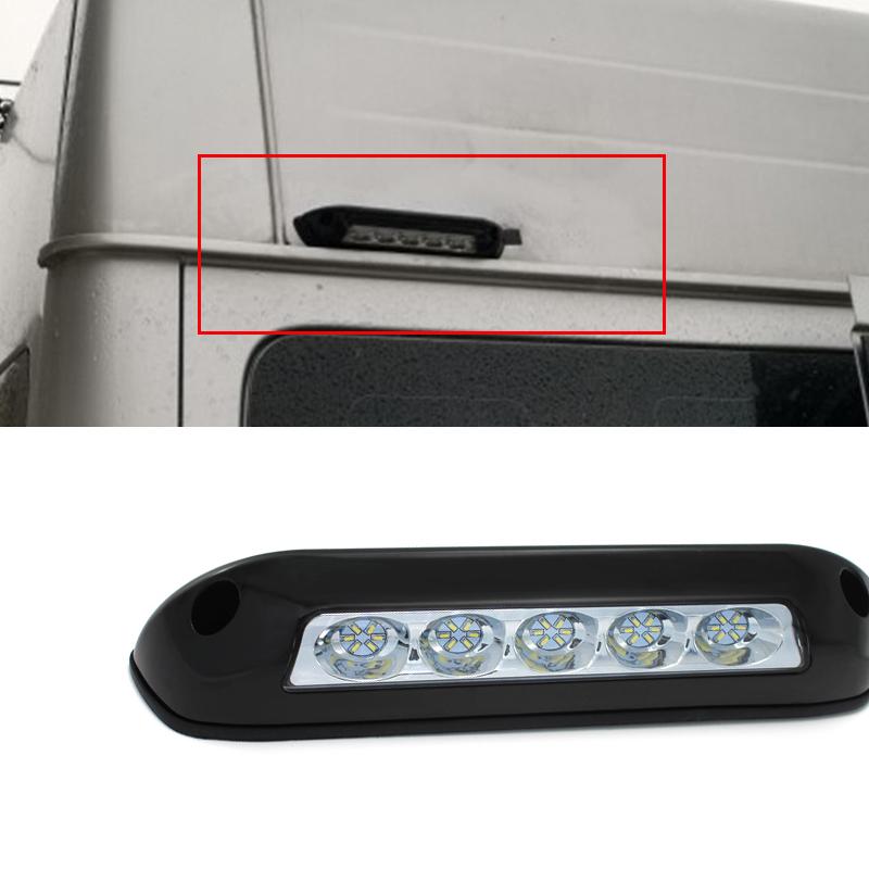 Black 2 6 W Car Rv Boat White Led Spotlights Roof Dome Lamp Ceiling Lighting Ebay