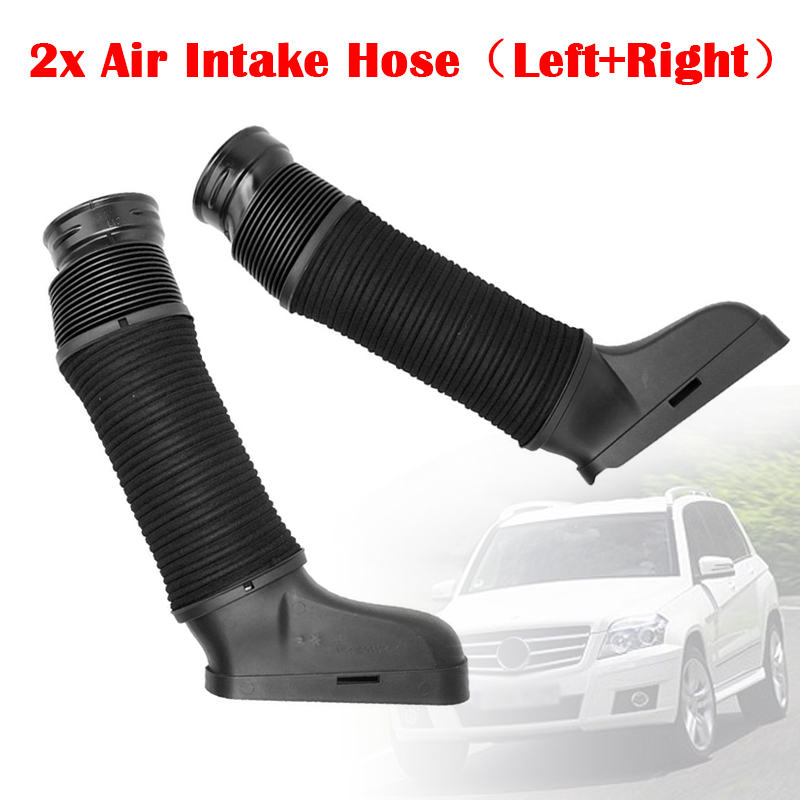Air Intake Duct Hose Kit Pair Set of 2 for 10-12 MB Mercedes Benz GLK350 New