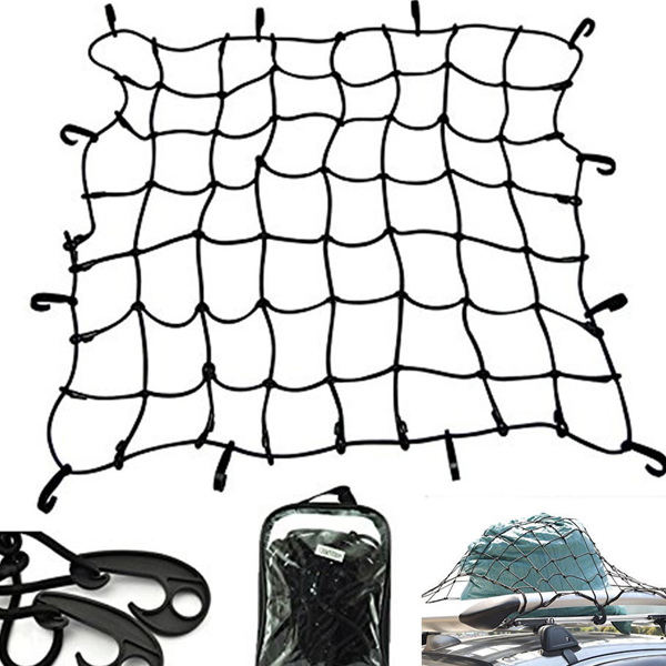 Car Roof Rack Cover Network Luggage Carrier Cargo Basket Elasticated