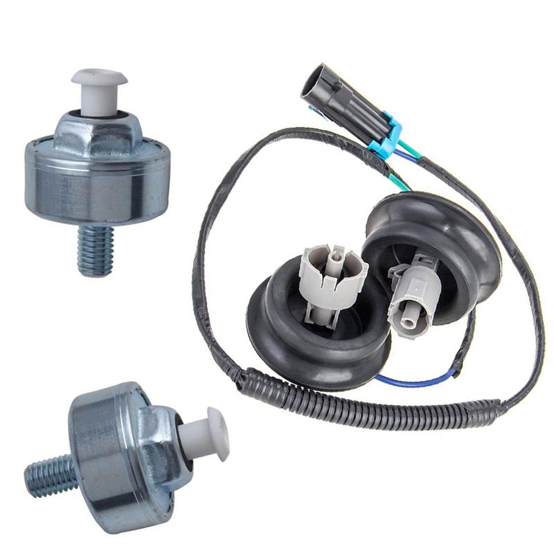 2 Knock Sensor W   Harness Pair Kit For Chevy Gmc Silverado