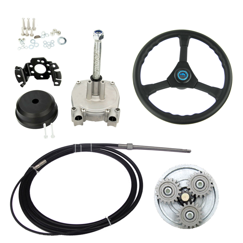 """14FT Planetary Gear Outboard Marine Steering/&Steering Cable Wheel Dia 406mm//16/"""""""