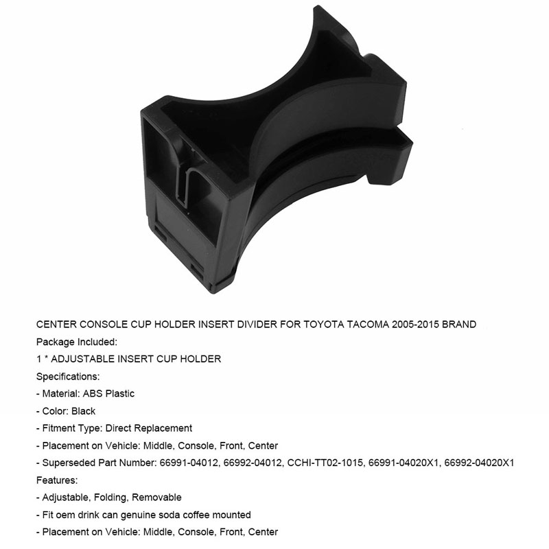 NovelBee Cup Holder Insert Compatible with Toyota Tacoma 2005-2010 and Sequoia 2008-2018