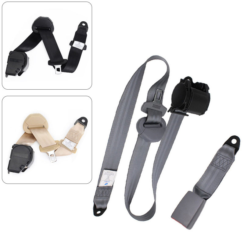 Newly 3 Point Retractable Auto Car Seat Belt Bolt Extension Safety Strap Buckle