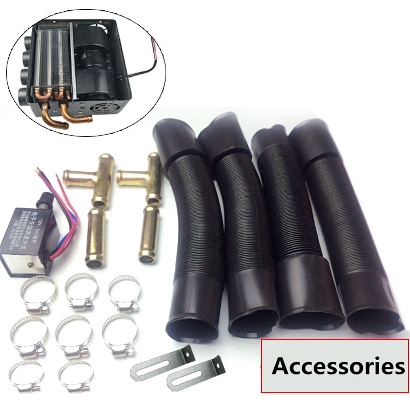 Parts & Accessories 12v Universal Underdash Compact Heater 12pcs Pure Copper Tube+speed Switch Grade