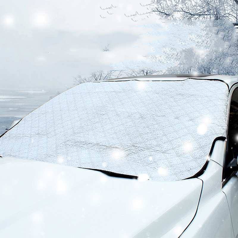 Car Windshield Snow Cover Waterproof Ice Frost Rain Windshield Sun Shade Protector Mirror Covers Included with 1 Bonus Ice Snow Remover Scraper 1pcs, For Hatchback
