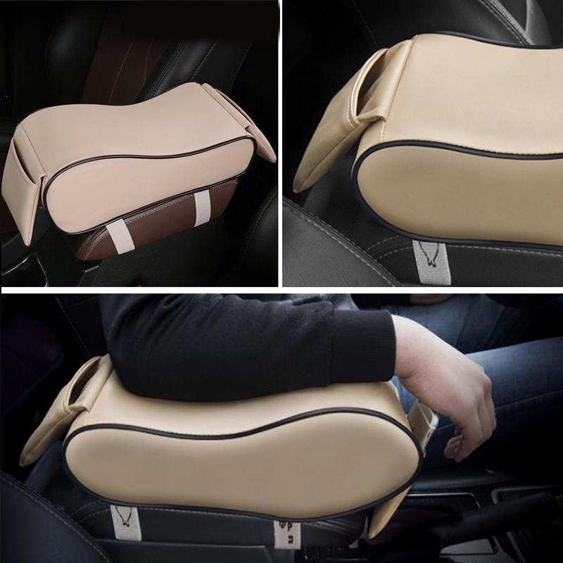Slendid Black Car Seat Armrest Cushion Center Console Pillow Pad Kit Memory Foam