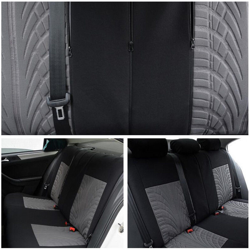 5Pcs Butterfly Needlework Soft Cotton Cloth Car Front Seat Cover Set 5 Seat Car