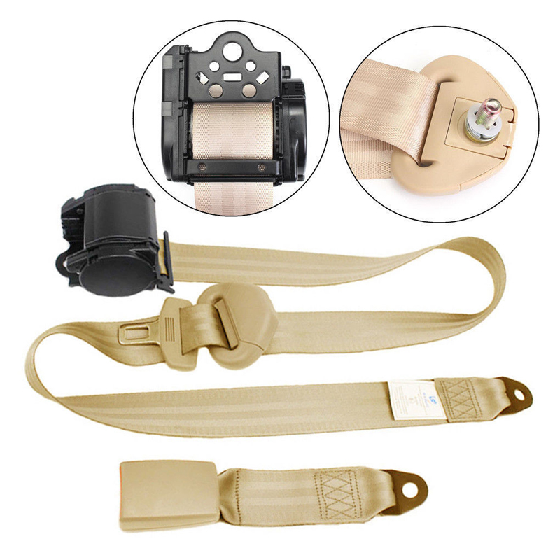 Car Extension Extender Safety Seat Belt Buckle Kit Retractable Universal Beige