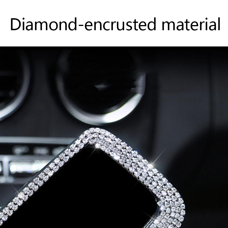 Bling Auto Rearview Mirror Cover,SUNACCL Elastic Sparkly Rhinestones Crystal Diamond Auto Accessories fit Universal Car Rear View Bling Bling Mirror Protector for Women Girls