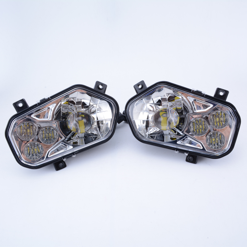 2PCS Eagle Lights Fit For Polaris Chrome RZR XP 900 and Sportsman LED Headlights