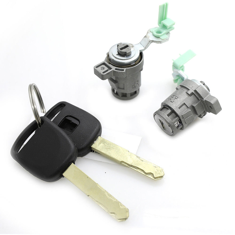 Right Driver Side Door Lock Cylinder Fit For Honda W// 2Keys Reliable Pair Left