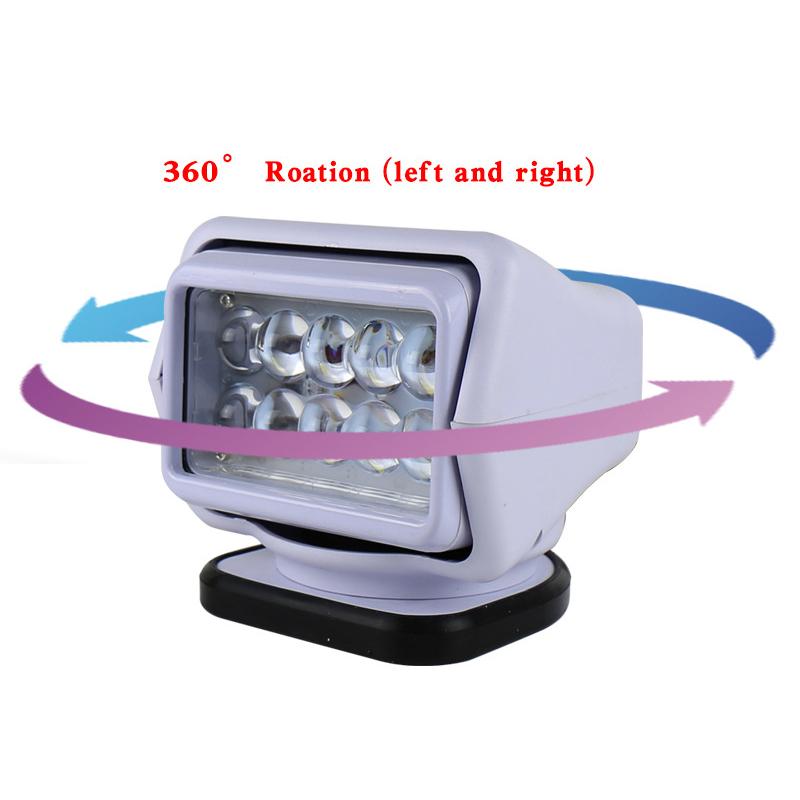 50W 9-32V 4200LM 6000K LED Remote Control Searchlight Wireless Spotlight ATV UTV