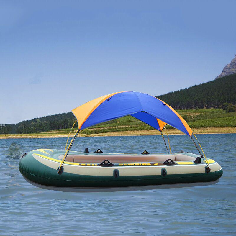 Foldable Inflatable Boat Canoeing Visor Fishing Canopy Awning Sun Shade Shelter