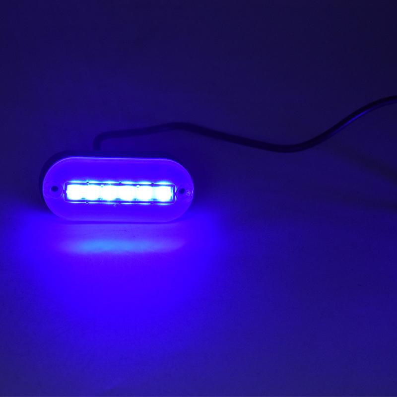 12V Blue LED Oblong Courtesy Light Yacht Marine Boat Stair Deck Garden Lamp