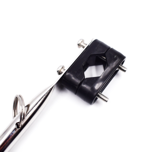 Rail Mount Flag Staff Pole with Plastic Rail Clamp for Marine Boat Kayak