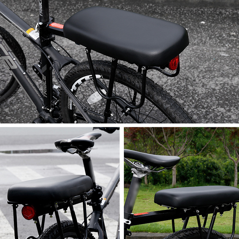 Adults Child Comfortable Durable Bike Seat Rack Bicycle Rear Cushion Avoid Slide