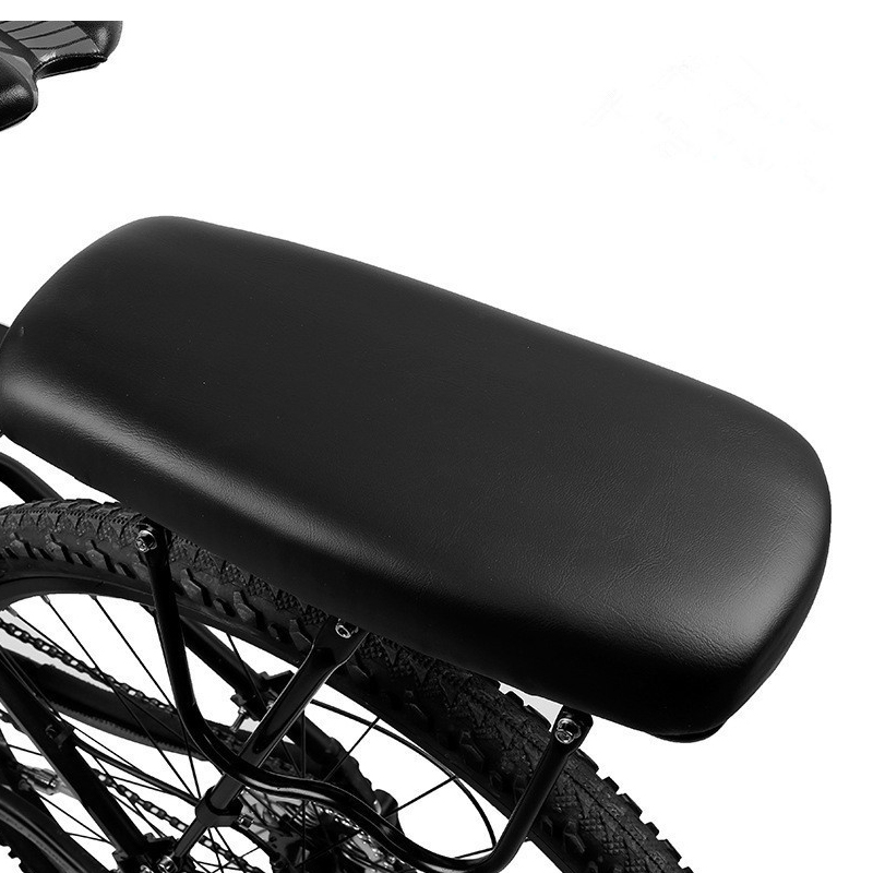 Bicycle Saddle Rear Seat Mat Child Seat Cover Bike Rack Cushion for PU Leather