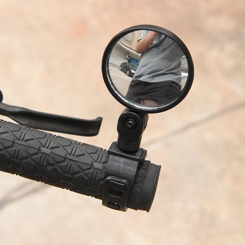 2PCS Cycling Bike Bicycle 15-35 mm Handlebar Flexible Rear view Mirror 360° ABS