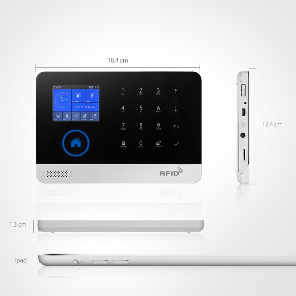 U69 APP WiFi GSM SMS RFID Wireless Home Security Alarm Burglar System+IP Camera