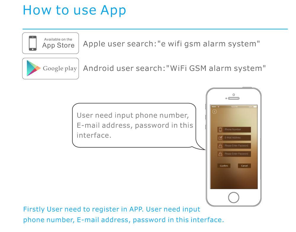 W90 G90b App Wifi Gsm Gprs Wireless Home Security Alarm