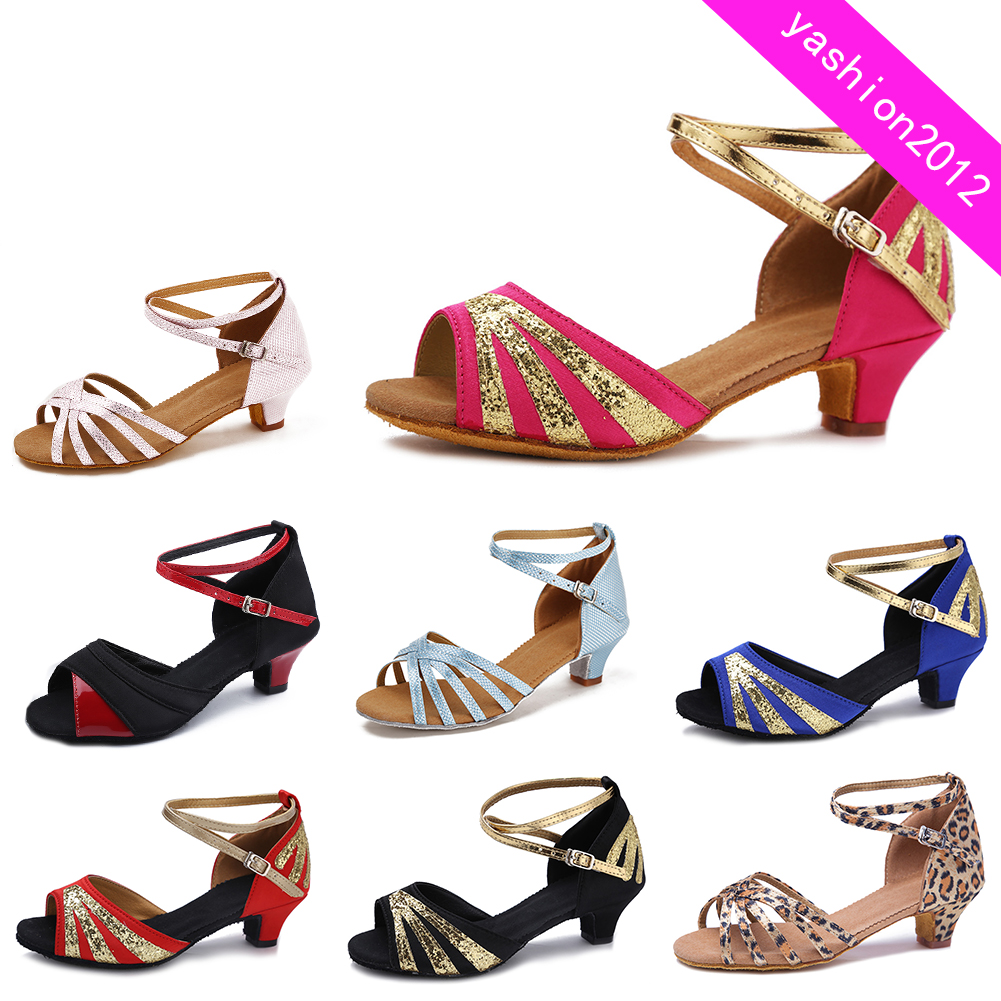 Brand new Women Children Girl/'s Ballroom Latin Tango Dance Shoes heeled Salsa