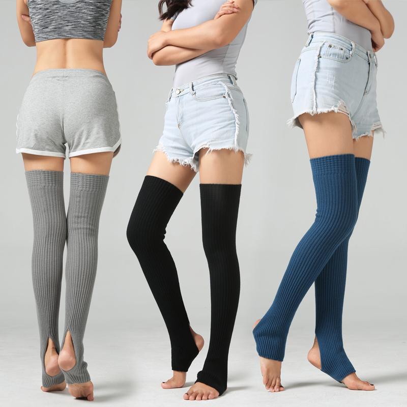 Women Winter Wool Warm Knit Over Knee Thigh High Stockings Socks Leggings LOT