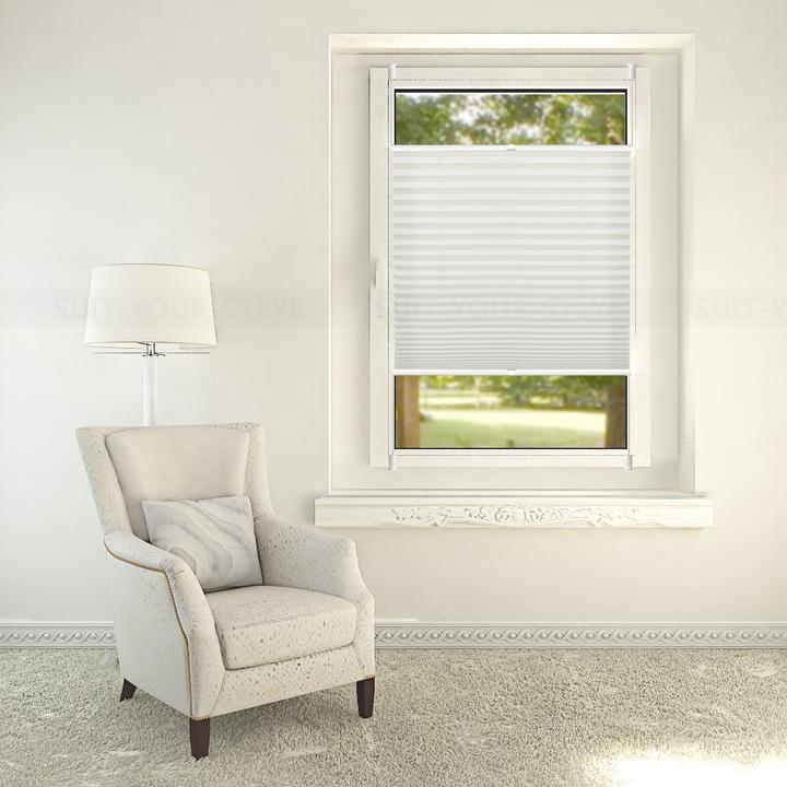 plissee klemmfix faltrollo jalousie f r fenster t r rollo ohne bohren blickdicht ebay. Black Bedroom Furniture Sets. Home Design Ideas