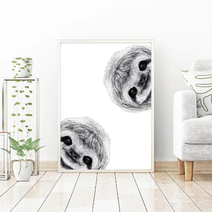 Cute Baby Animal Sloth Wall Art