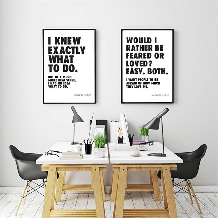 Michael Scott Quotes Wall Art Canvas Poster Prints Picture Office Wall Art Decor Ebay