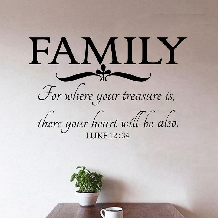 where your family bible quotes vinyl sticker home wall art