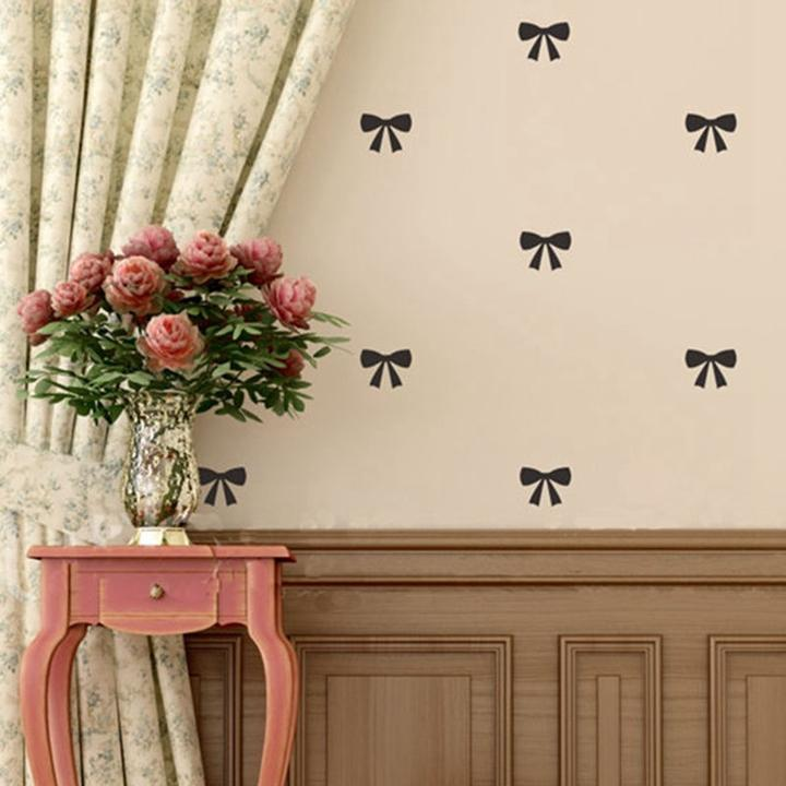 Lovely Little Bow Wall Sticker Bow Tie Pattern Vinyl Decals for ...