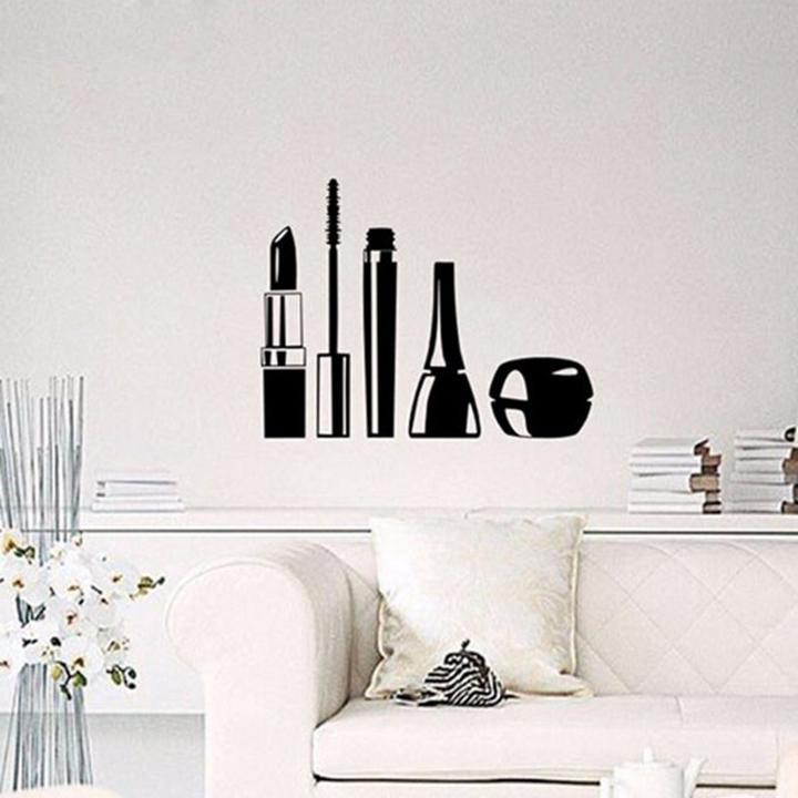 Beauty Salon Cosmetics Wall Stickers Girls Makeup Vinyl Wallpaper Home Decor Ebay
