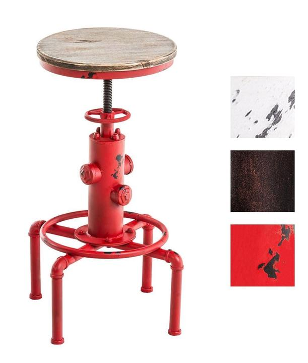 Industrial Wood Adjustable Seat Barstool High Chair: Industrial Bar Stool Antique Swivel Chair Metal Wood Seat