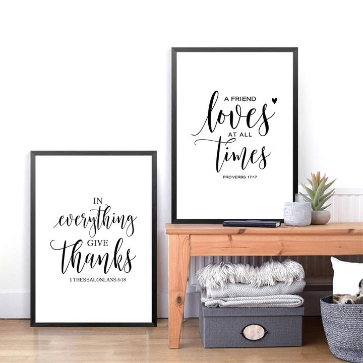 bible verse thanksgiving prints poster friendship quotes canvas