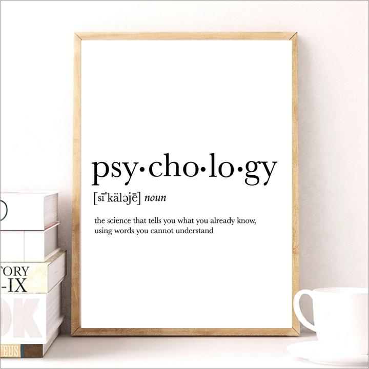 Psychology Quote Canvas Painting College Dorm Room Wall ...