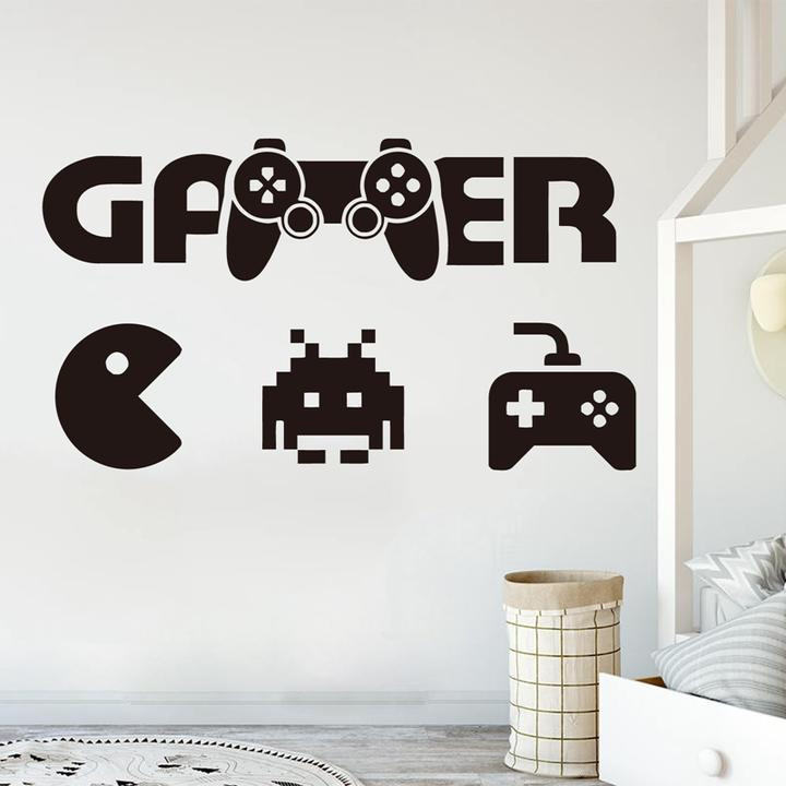 Details about Boys Room Wall Decal Gamer Art Decor Controller Video Game  Vinyl Wall Stickers
