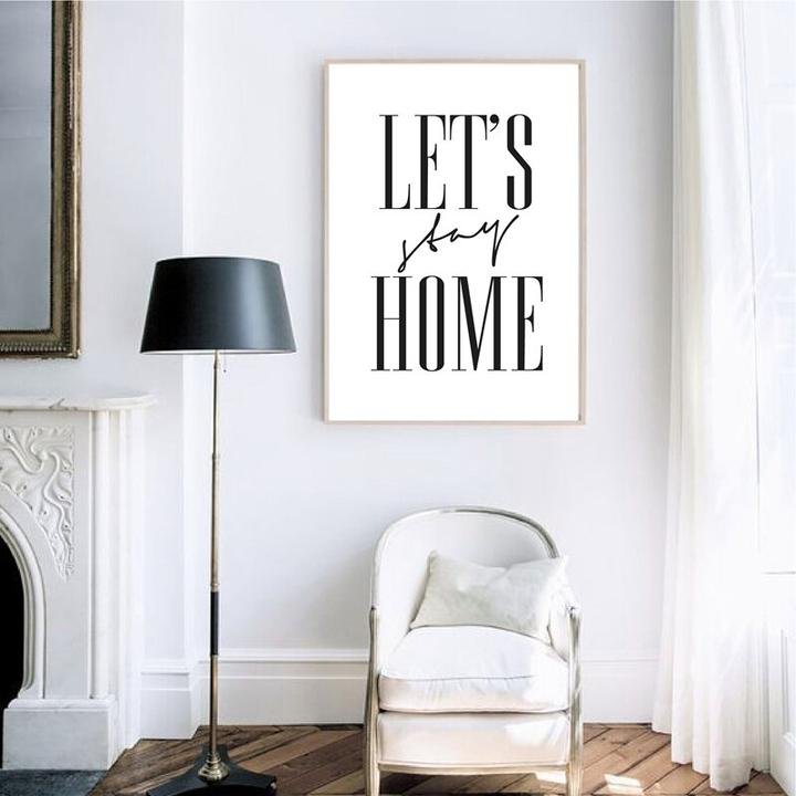 Vinyl Decal Wall Art Decor Sticker Simple minimalist minimal Let/'s Stay Home