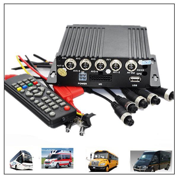 Mini 4CH Car Vehicle AHD Mobile DVR Realtime Video//Audio Recorder SD Card Remote