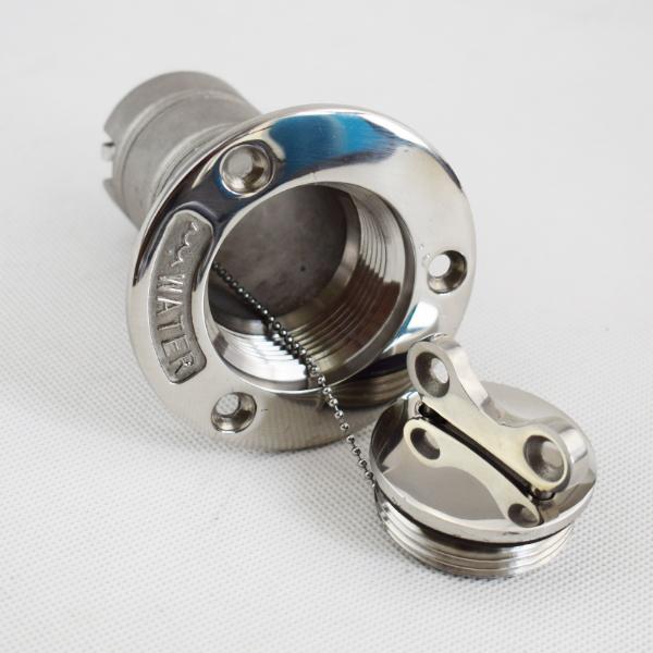 "Single Marine Boat 316 Stainless Steel Fuel Deck Filler OD 1-1//2/"" With Keys"